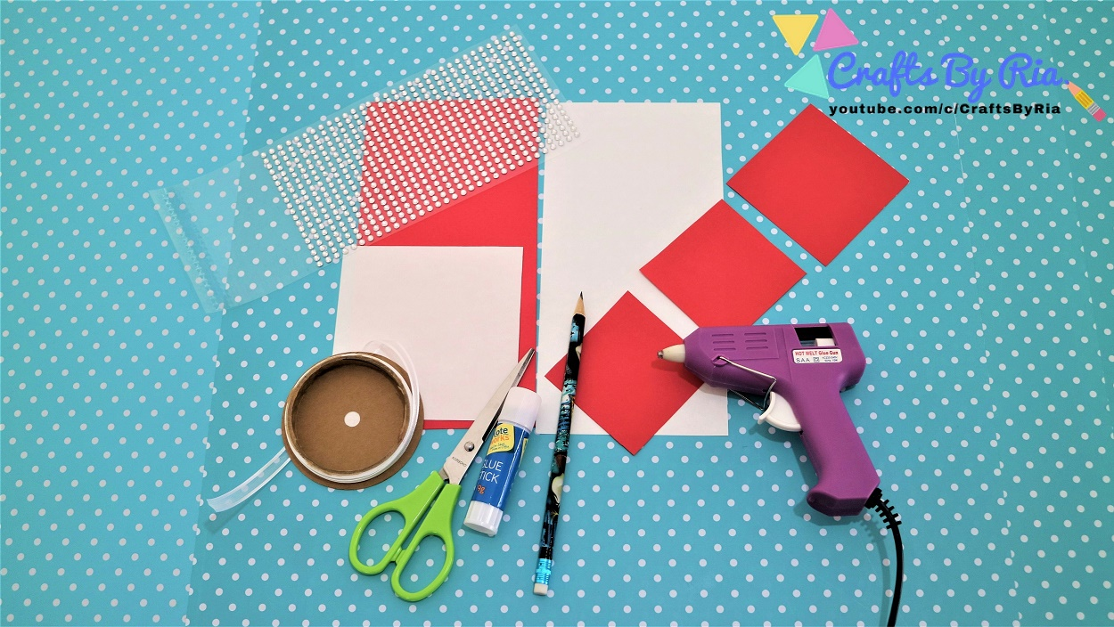 supplies needed to make DIY Valentines day Card