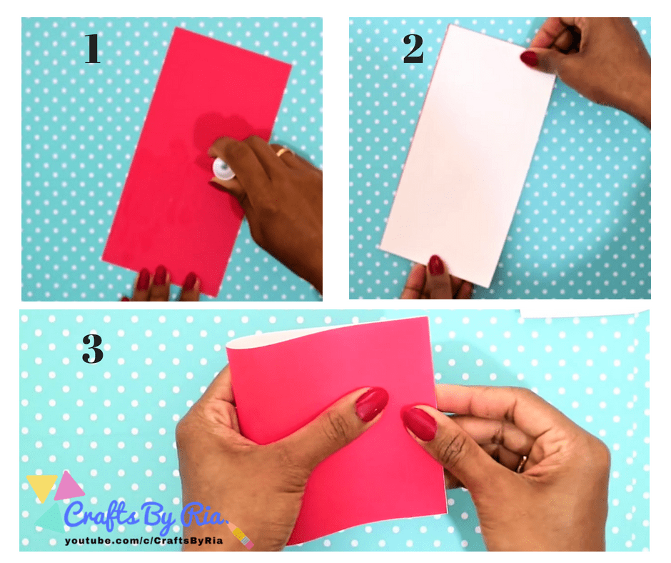DIY VALENTINES DAY CARD- apply glue over red cardstock paper