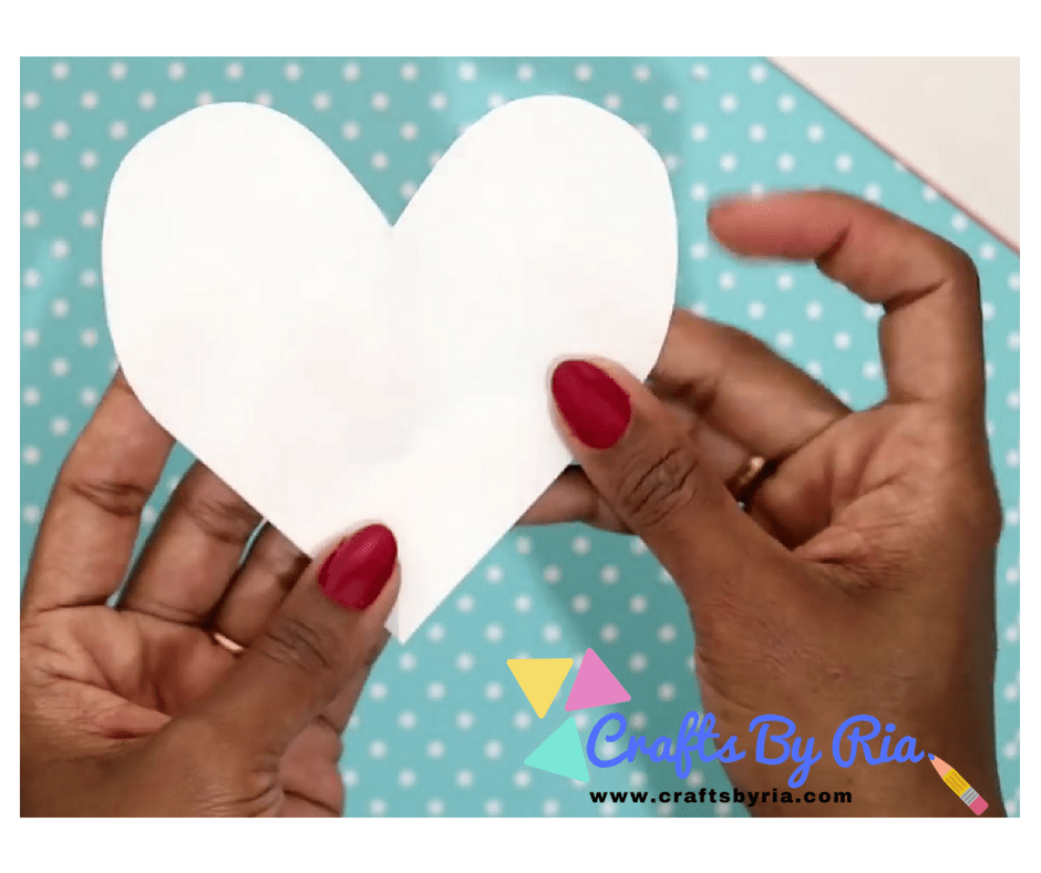 DIY VALENTINES DAY CARD- get a heart shaped template