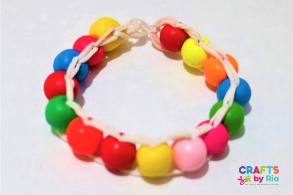 bead rubber band bracelet
