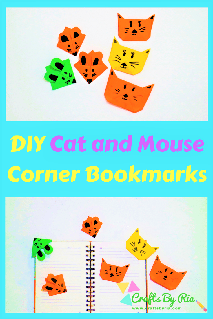 diy corner bookmarks -cat and mouse bookmarks