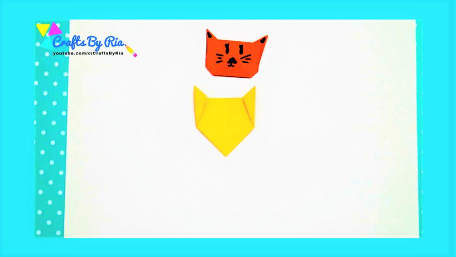 diy corner bookmarks -cat bookmark-make the ears