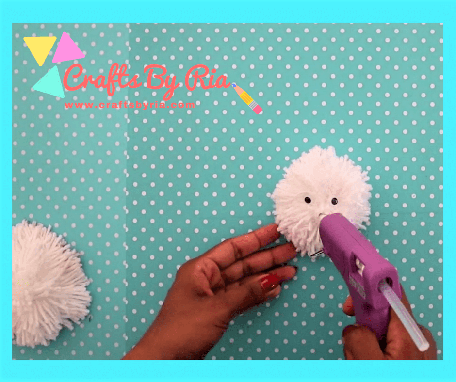 diy teddy bear-stick all the parts together