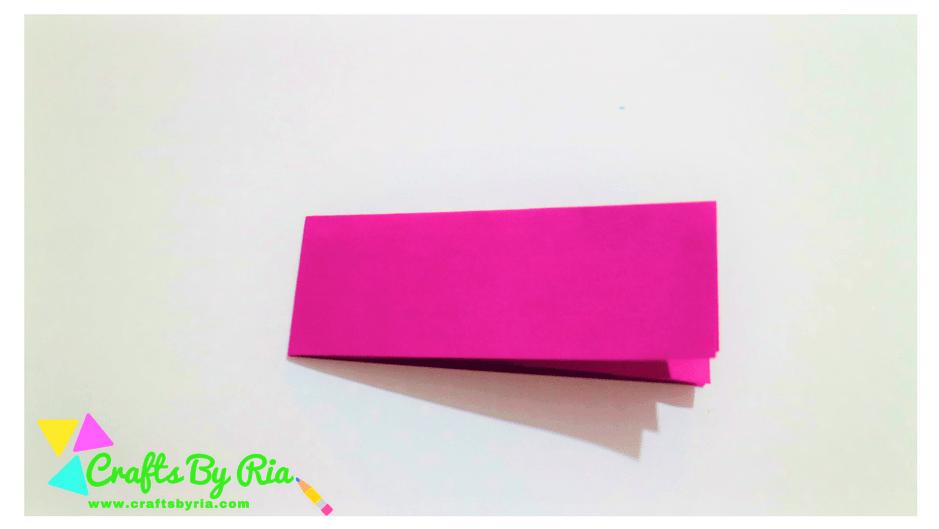 paper lavender steps-fold the purple paper in half