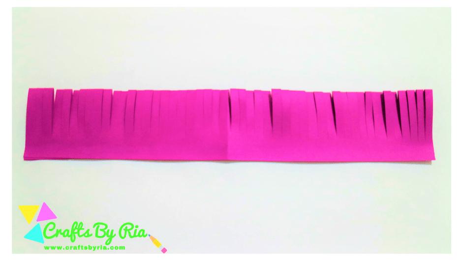 paper lavender steps- glue both the sides together