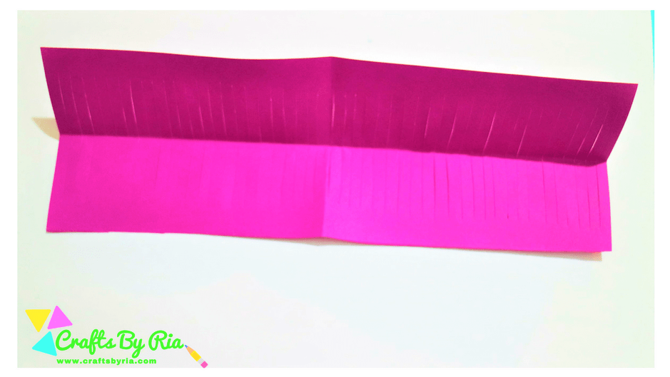 paper lavender steps- unfold it and open it