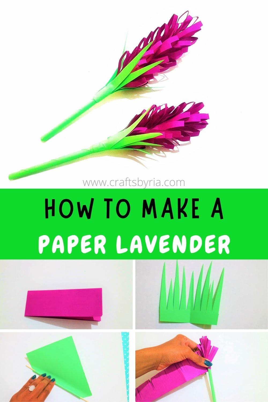 lavender paper flowers