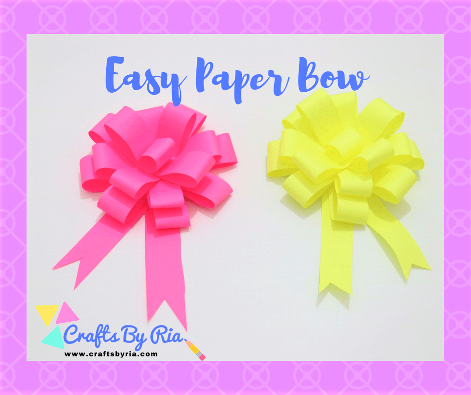 Easy Paper Bow