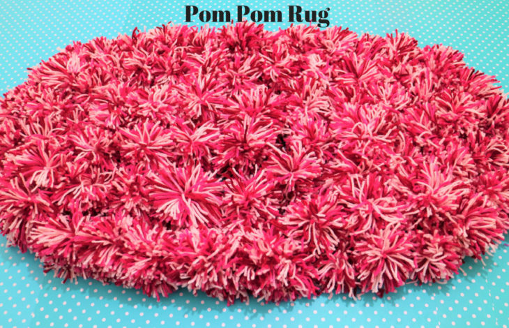 diy pom pom rug-featured image