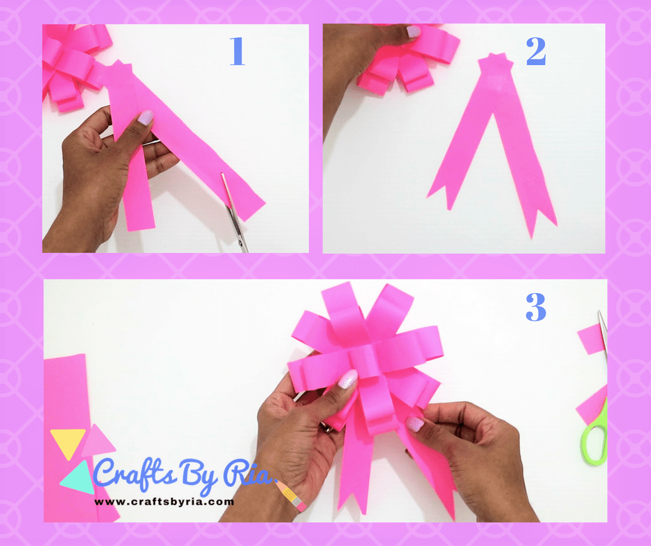 easy paper bow steps- stick them together