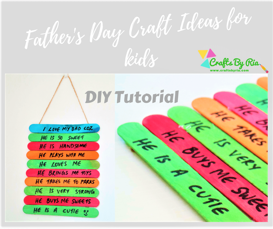 father's day craft ideas for kids-popsicle stick craft