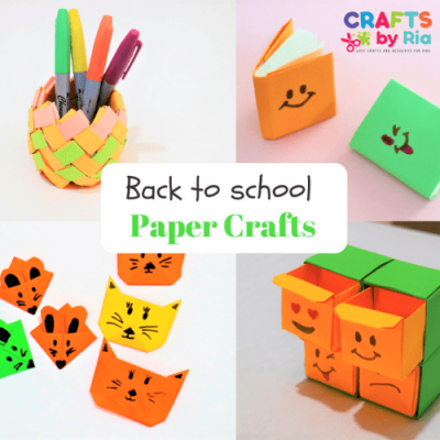 back to school paper crafts for kids-featured image