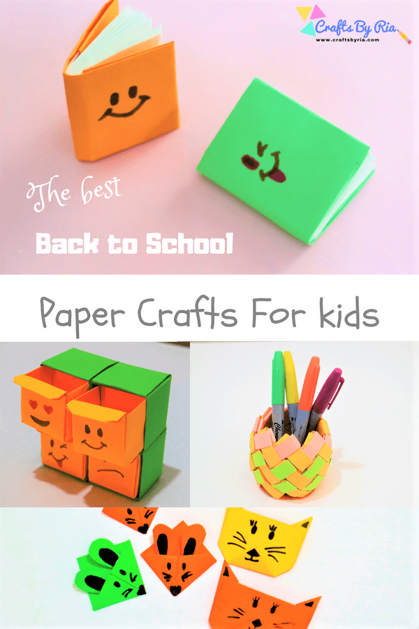back to school paper crafts for kids