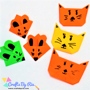 cat and mouse diy corner bookmarks