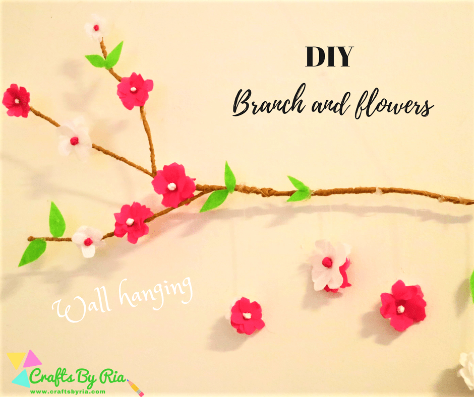 diy branch and flowers wall hanging-fb