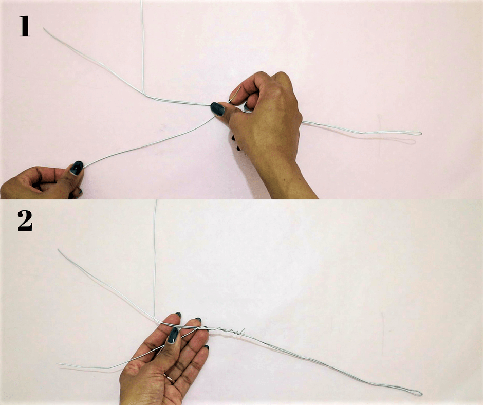 diy branch decor- add more metal wire to make extra branches