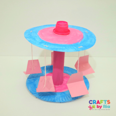 paper plate merry go round amusement park craft-featured image