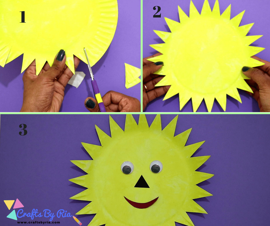 paper plate sun-cut it into the shape of a sun