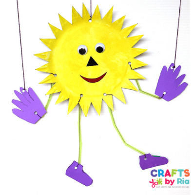 paper plate sun marionette craft-featured image