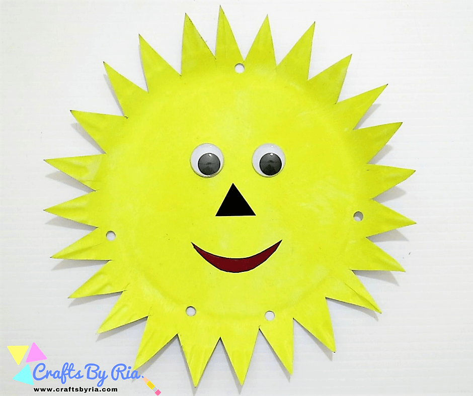 paper plate sun-punch holes on the paper plate
