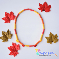 paper bead necklace-autumn crafts for kids-fall necklace-thumbnail