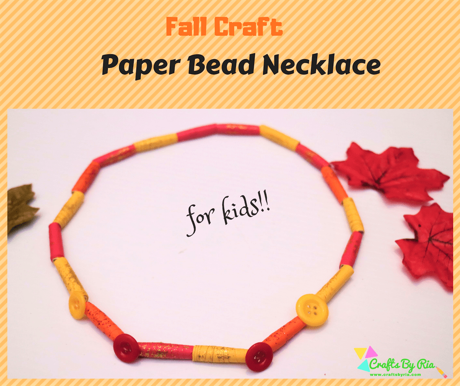 paper necklace craft for kids-fb