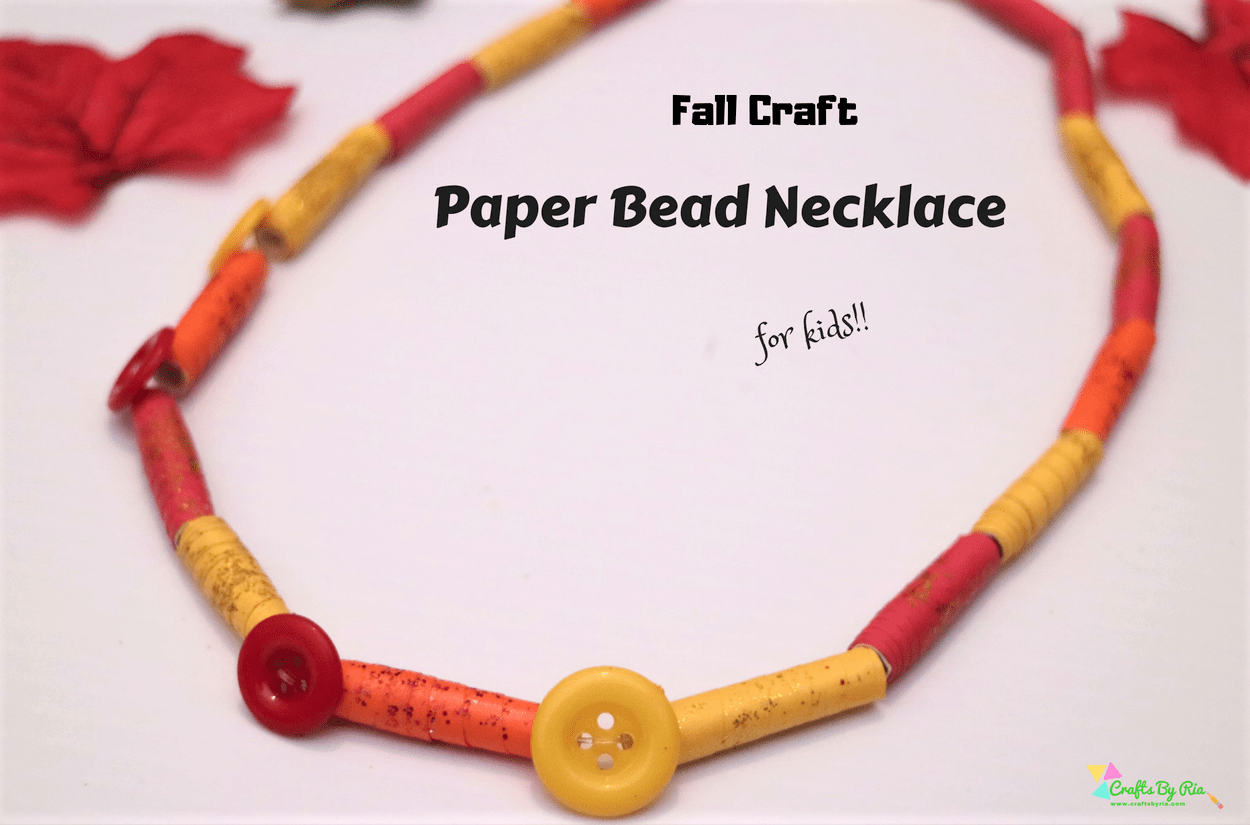 Fall paper necklace craft for kids