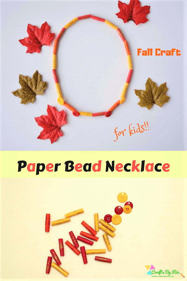 paper necklace craft for kids-autumn crafts for kids