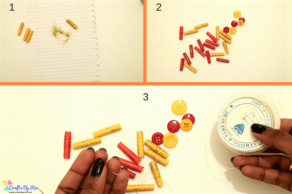 paper necklace craft for kids-step5