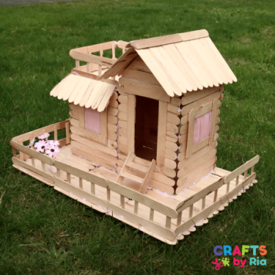 popsicle stick house tutorial-featured image-500x500