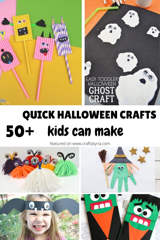 50+ quick halloween crafts-pin1a
