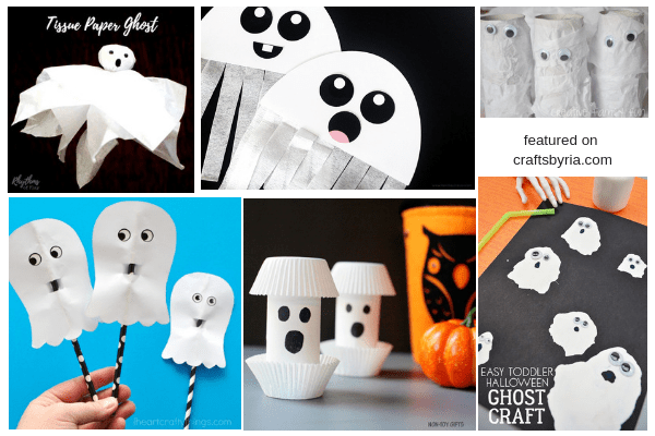 easy halloween crafts for kids-ghost craft