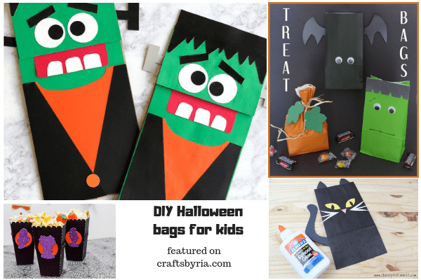 halloween bags-easy halloween crafts for kids