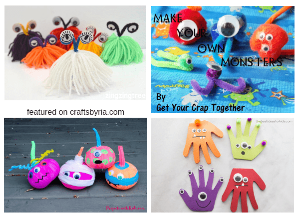 halloween monster-easy halloween crafts for kids
