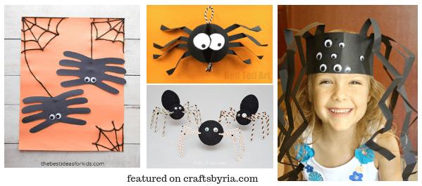 halloween spider-easy halloween crafts for kids