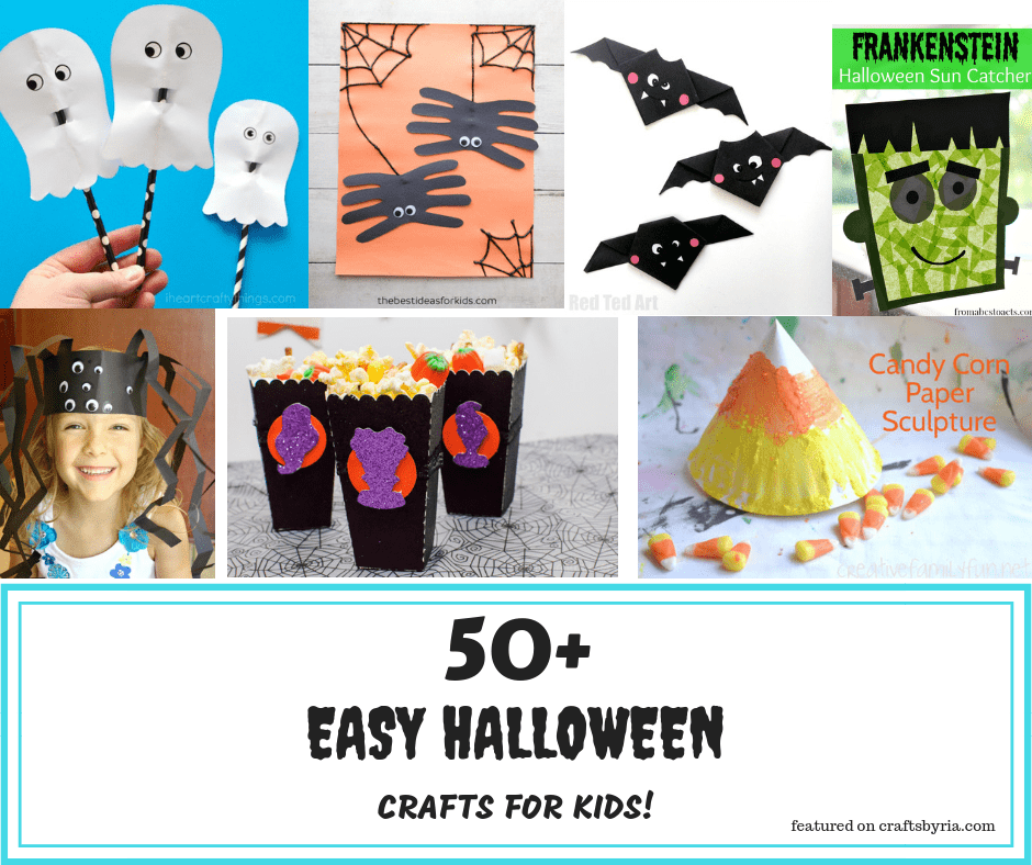 more than 50 easy halloween crafts for kids-facebook
