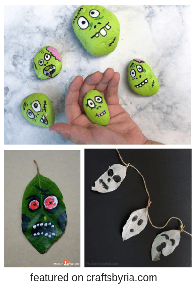 nature crafts halloween-easy halloween crafts for kids