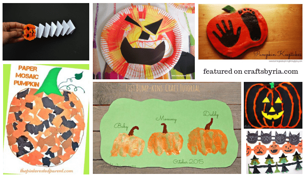 pumpkin crafts-easy halloween crafts for kids