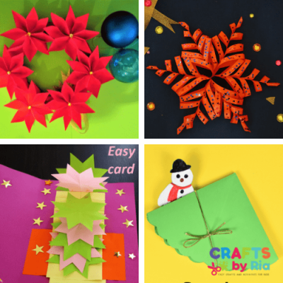 5 EASY paper christmas crafts for kids-FEATURED IMAGE