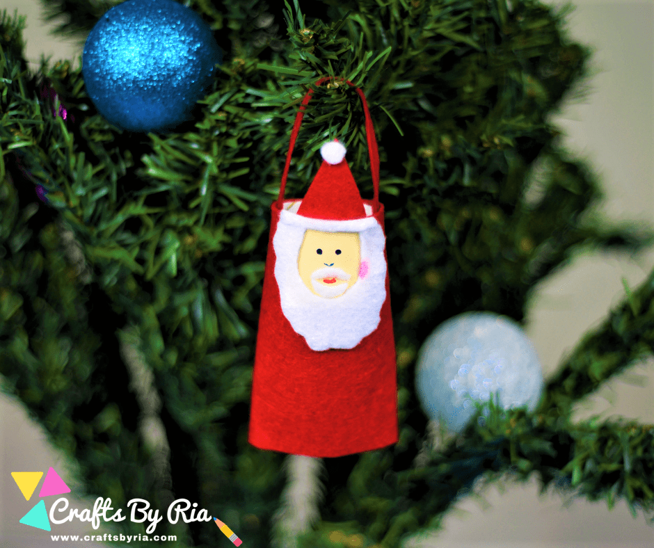 toilet roll santa christmas ornament for kids crafts by ria