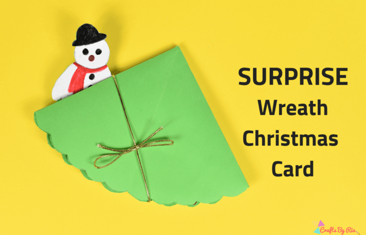 surprise wreath Christmas card-featured image