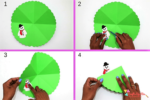 surprise wreath christmas card-stick it on the wreath-step9