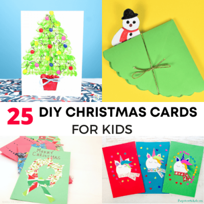 25 cute diy handmade christmas card ideas for kids-Featured image