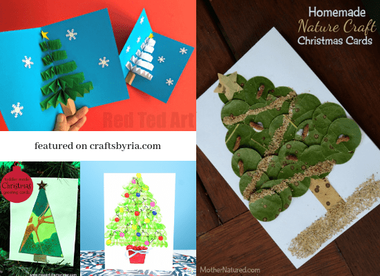 Here are several cute Christmas card ideas for kids