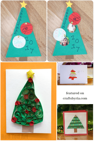 Here are 5 Christmas tree card ideas for you