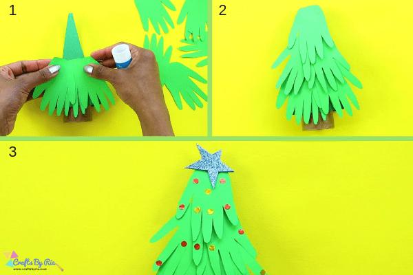 handprint christmas tree-step4