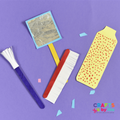 easy popsicle stick vanity set crafts for kids pretend play-featured