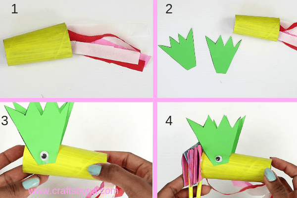 dragon puppet craft-make the face