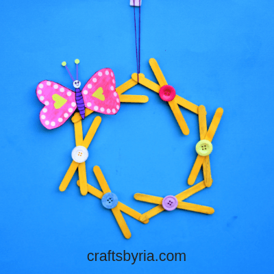 popsicle stick wreath-valentines day craft-thumbnail