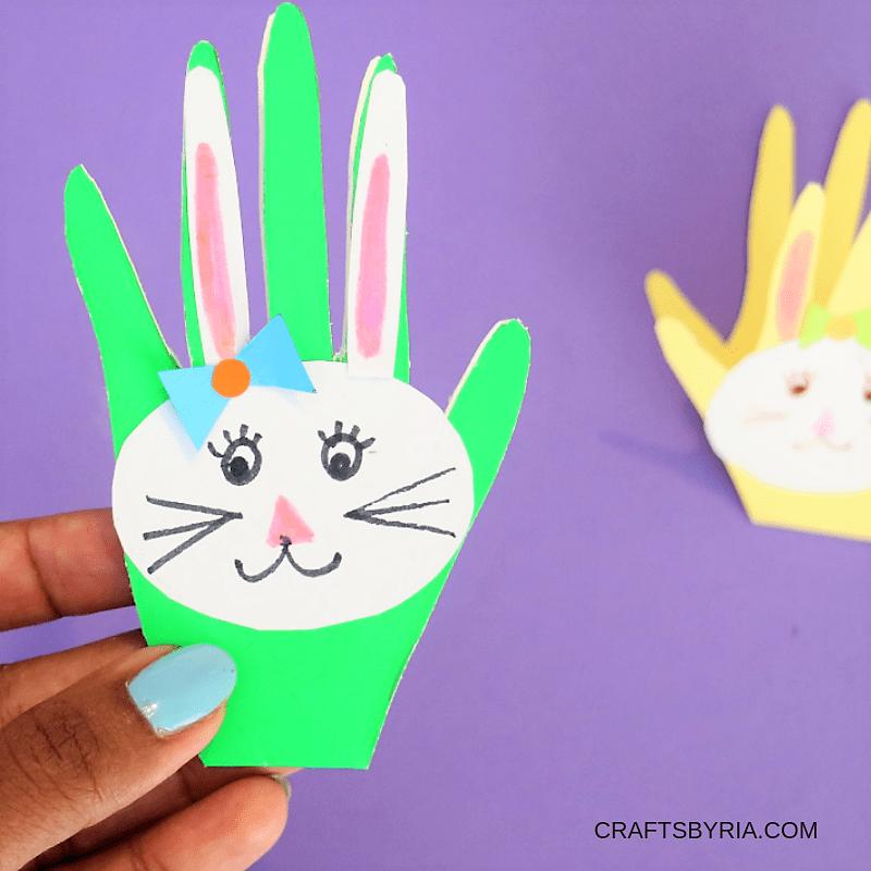BUNNY handprint Easter card-FB
